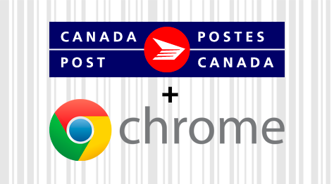 Chrome Extension for Canada Post that adds a barcode on the tracking page